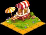 Beautiful pretzel cart