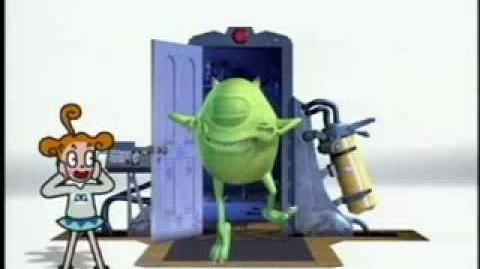 Ponkickies 21 Monsters Inc Lucky Door Game segments