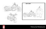 Big Hero 6 The Series props - Felony Carl Motorcycle