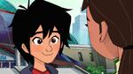 Hiro smiles at Karmi