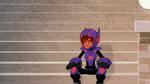 Hiro sits