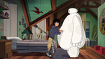 Hiro checking out Baymax