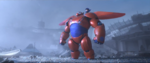 Damaged Baymax With Hiro