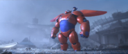 Damaged Baymax With Hiro