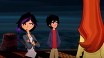 Hiro and friends at pier