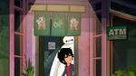 Hiro and Baymax spy on Cass