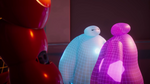 Blue and Purple Baymax