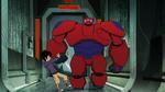 Baymax takes Hiro to Obake's lair