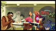 Big hero 6 team enjoying themselves concept art