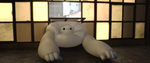 Baymax Stuck In Window