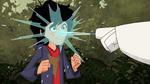 Baymax sprays Hiro