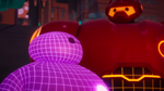 Purple and Hero Baymax