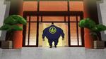 Yama enters building