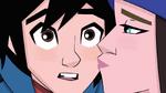 Trina kisses Hiro