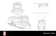 Big Hero 6 The Series props - Steamer's Train