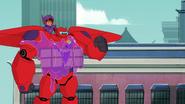 Globby crashes against Baymax