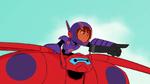 Hiro and Baymax fly