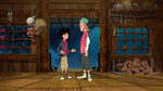 Hiro and Fred in treehouse