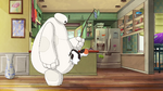Mochi bounces off Baymax
