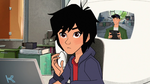 Baymax shows Tadashi video