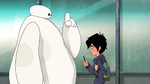 Baymax and Hiro at school
