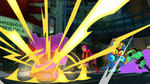 Rocket punch explodes