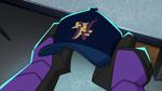 Hiro looks at cap