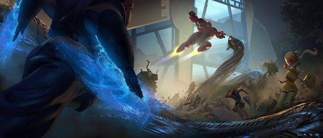 File:Big Hero 6 Demon Yokai Battle concept art .jpg