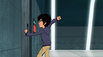 Hiro trapped in room