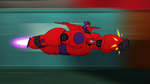 Baymax launches rocket punch