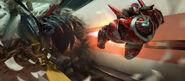 Gundam Baymax concept art