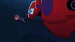 Hiro and Baymax fall