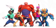 Big Hero 6 Team Render