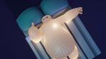 Baymax in bed