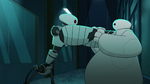 Clone attacking Baymax