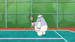 Baymax fails at tennis