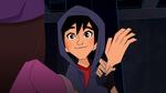 Hiro smiles at Trina