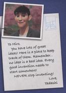 Tadashi in hiros journal