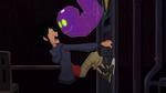 Globby scares Hiro