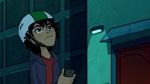 Hiro looks up