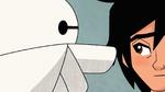 Baymax checks Hiro's ears