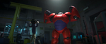 Flexing Baymax