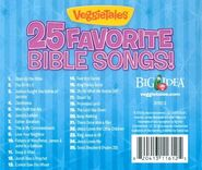 The Back cover of VeggieTales 25 Favorite Bible Songs includes a list of Songs from Where's God when I'm S-Scared?, The Story of Flibber-O-Loo, Rack, Shack and Benny (episode) and more!