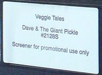 Dave & The Giant Pickle Screener Label