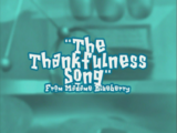 Thankfulness Song