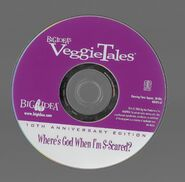 Veggietales where's god when im scared 10th anniversary 2003 dvd disc