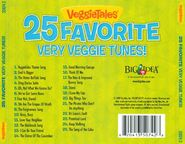 The 2009 Back cover of VeggieTales 25 Favorite Very Veggie Tunes includes a list of Songs from the hit videos