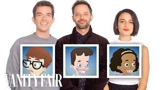 "John Mulaney, Nick Kroll, and Jenny Slate Recap ""Big Mouth"" Season 1 in 10 Minutes Vanity Fair"