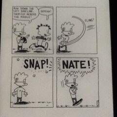 Nate breaks his wrist.