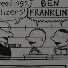 Benjamin Franklin in Nate's comics